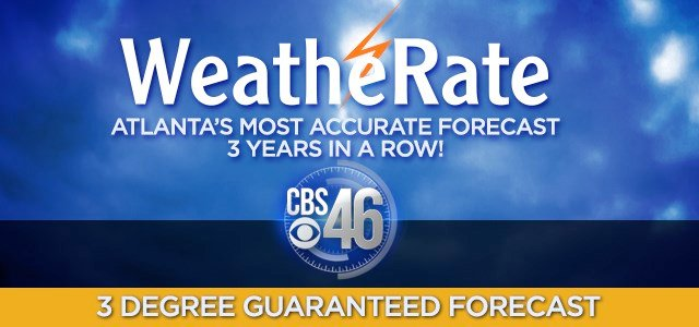 CBS46 weather team three degree guarantee