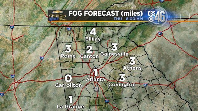 Fog and cloud forecast