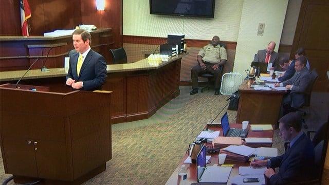 Prosecutor Chuck Boring questioning Juror 66. (Source: WGCL)