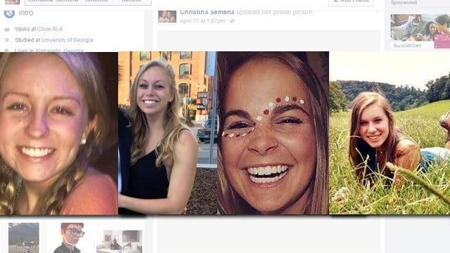 Kayla Canedo, Brittany Feldman, Christina Semeria, and Halle Scott (Source: Facebook)  Read more: http://www.cbs46.com/story/31836682/4-uga-students-killed-in-oconee-county-crash-identified#ixzz47QM1KLWY