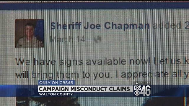 Sheriff accused of violating policy in bid for re-election
