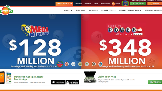 Georgia Lottery Jackpots (Source: https://www.galottery.coml)