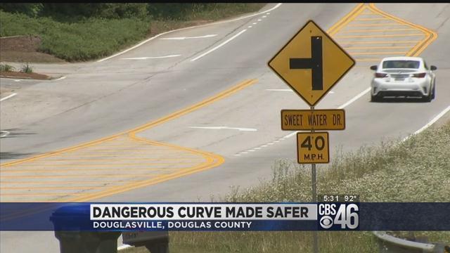 Dangerous curve where teen killed made safer