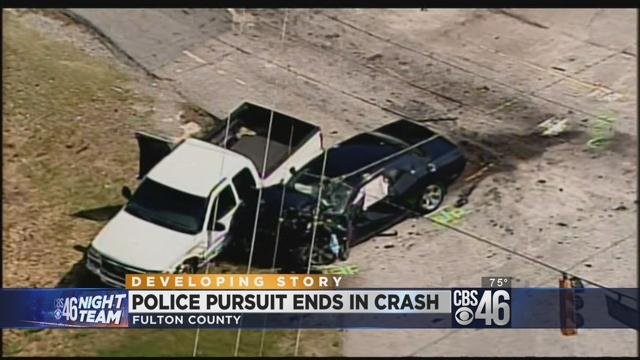 Suspects lead police in chase in Fulton County