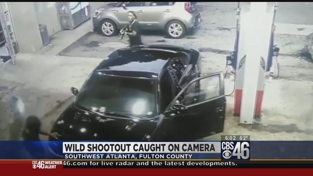 Violent ATL Gas station shootout