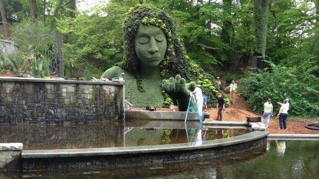 Giant plant sculptures take shape at Atlanta Botanical Garden ...