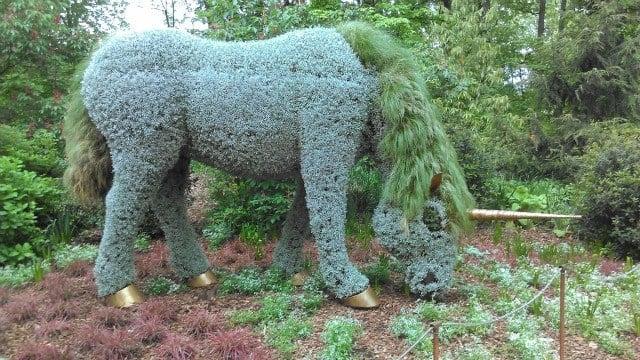 'Unicorn' plant sculpture at Atlanta Botanical Garden