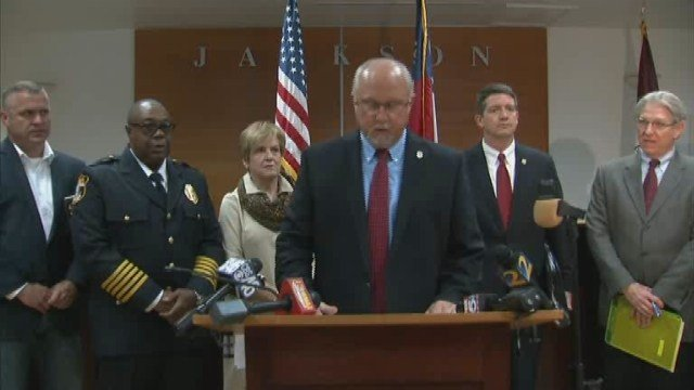 Press conference on Jackson officer accused of making up story