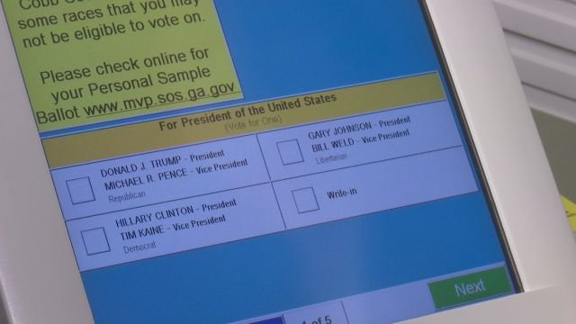 Number of voting machine complaints in Georgia rising - CBS46 News