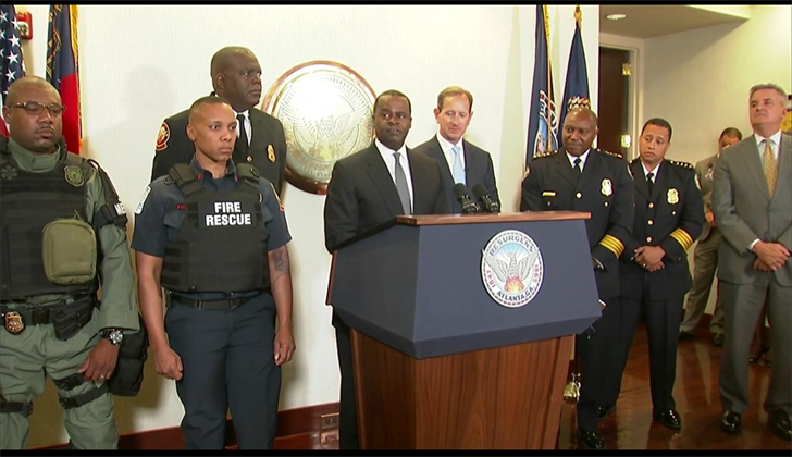 Atlanta Mayor Kasim Reed announces new safety equipment for fire, police. (SOURCE: WGCL)