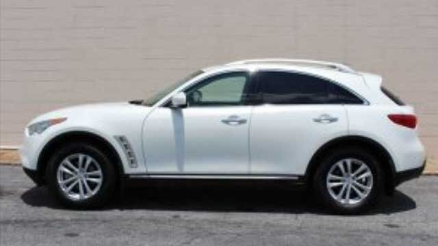 Evidence was collected at the scene that later identified the hit and run vehicle as an Infiniti FX35. Source: Georgia State Patrol