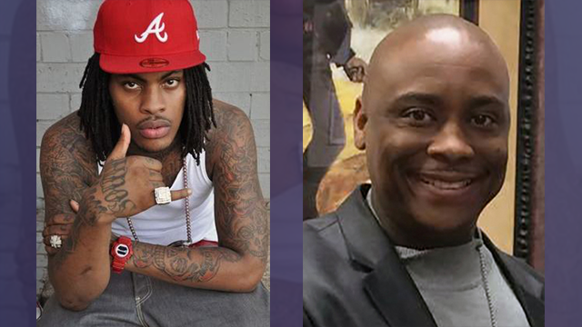Waka Flocka, left and Sheriff Victor Hill. (SOURCE: WGCL)
