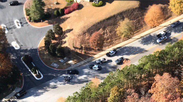 A man was shot in the arm by police officers in Lithia Springs near Douglasville on Wednesday, November 23, 2016. (SOURCE: WGCL)