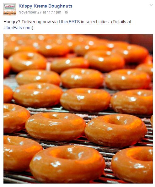 Ubereats Brings Krispy Kreme Doughnuts To Your Front Door