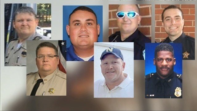 These are the officers killed in the line-of-duty in Georgia in 2016. (SOURCE: WGCL)