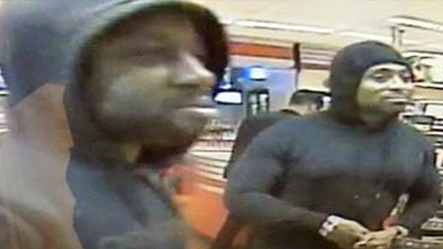 Police said the two men in this photo were involved in a shooting at a QuikTrip in Chamblee Thursday. They said the man on the right shot a victim. The man on the left was identified as an accomplice. (SOURCE: Chamblee Police)