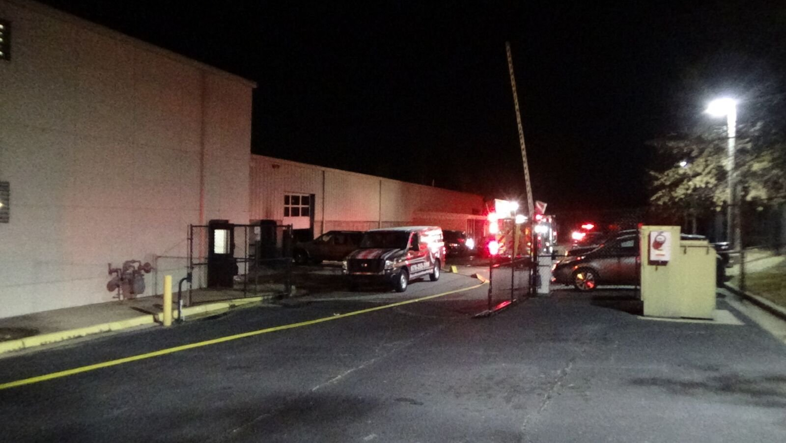 A nissan dealership in unincorporated lilburn suffered damage after a car burned in its service area