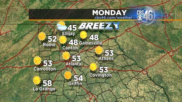 Jan 29: A sunny, chilly and breezy Sunday