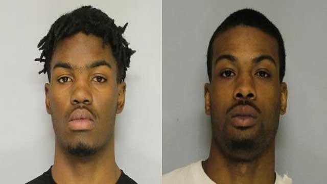 Marques Johnson and Thomas Robinson Jr. were arrested for an armed robbery at a Dollar General in Hall County. Source: Hall County Sheriff's Office
