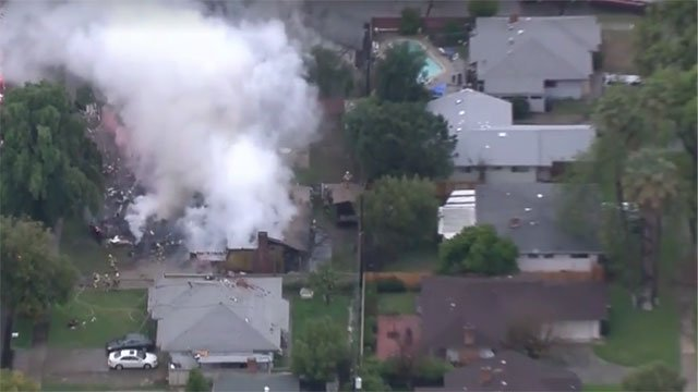 Two Rescued, Two Missing as Small Plane Crashes Into California Home