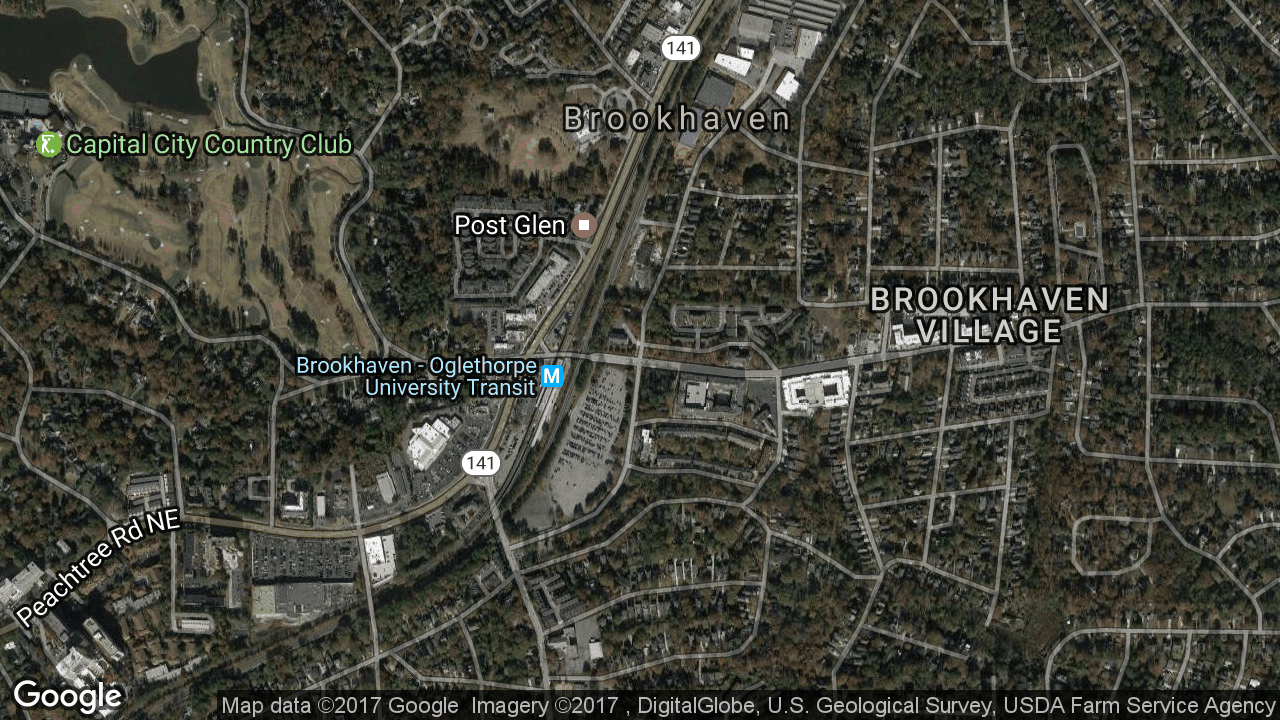 The Brookhaven MARTA station. (SOURCE: GOOGLE MAPS)