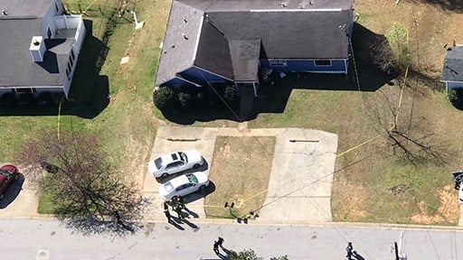 Scene of Clayton County homicide on Thursday, March 2, 2016. (SOURCE: WGCL)