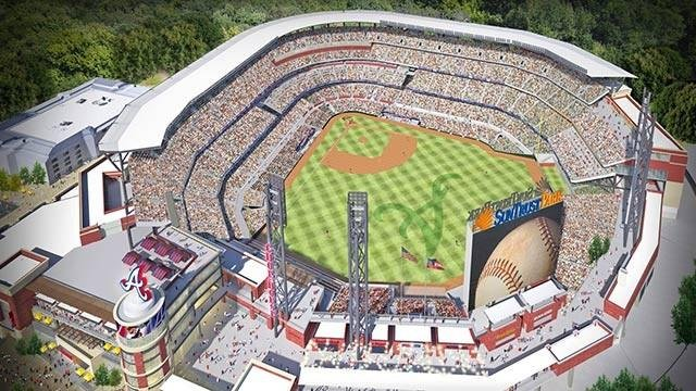 Artist rendering of SunTrust Park