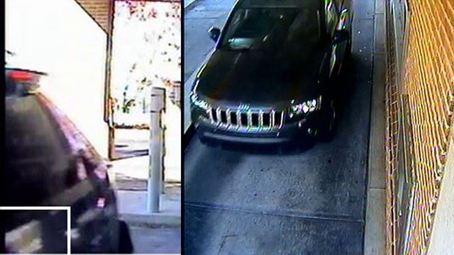 The FBI hopes these photos of the SUV they believe was used as a getaway car during an armored truck robbery in Lithonia can help them catch those responsible. (SOURCE: FBI)