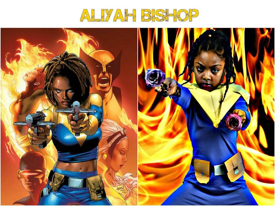 Superhero sisters Jaylin and Jasmin Rutledge turn into superheroes. (SOURCE: Facebook)