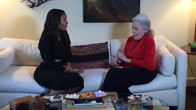 CBS46 anchor Sharon Reed and Janice Rothschild Blumberg, 93, discuss the 1958 Temple Bombing and today's racial climate in the wake of the recent bomb threats against Jewish organizations.