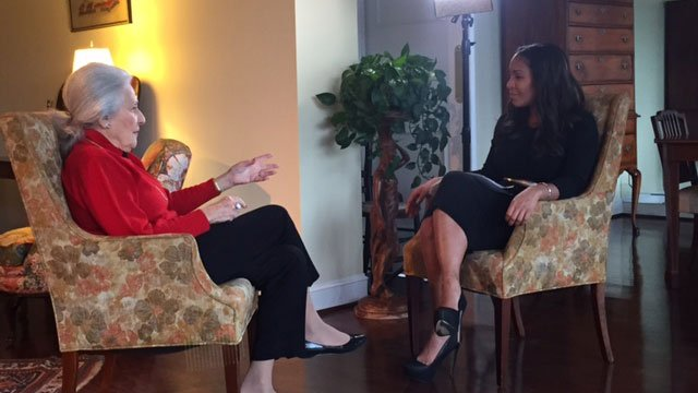 CBS46 anchor Sharon Reed interviews Janice Rothschild Blumberg, 93, about the 1958 Temple Bombing. Blumberg's husband, Rabbi Jacob Rothschild, was a Rabbi during the bombing. Blumberg is still a member at The Temple.