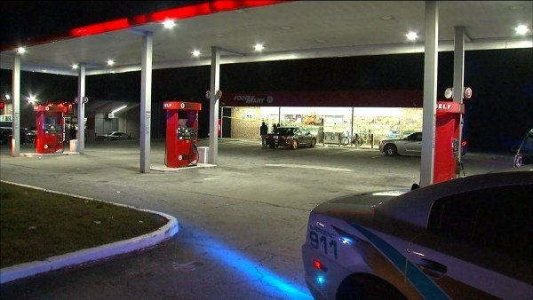 Police said two people were shot outside a gas station in Clarkston Friday night, March 17, 2017. (SOURCE: WGCL)