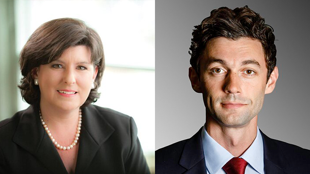 Karen Handel and Jon Ossoff. (SOURCE: Campaign, Twitter)