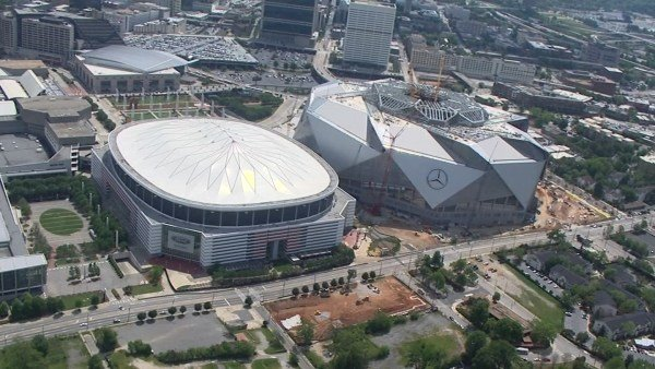 Blank reed announce plans for georgia dome space address for Mercedes benz stadium location