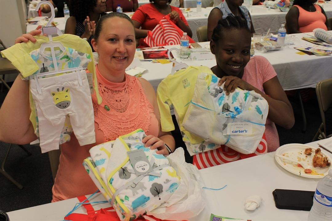The Atlanta Red Cross Tiffany Circle partnered with the Atlanta VA Medical Center's Women Veterans Health Committee to host a baby shower for more than 60 expecting women veterans from the metro Atlanta area.