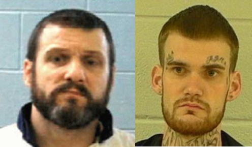 Escaped prisoners Donnie Russell Rowe (left) and Ricky Dubose (right) were two of 33 inmates being transported in a bus Tuesday morning when they overpowered two corrections officers on board, stealing their firearms and carjacking a green Honda Civic.