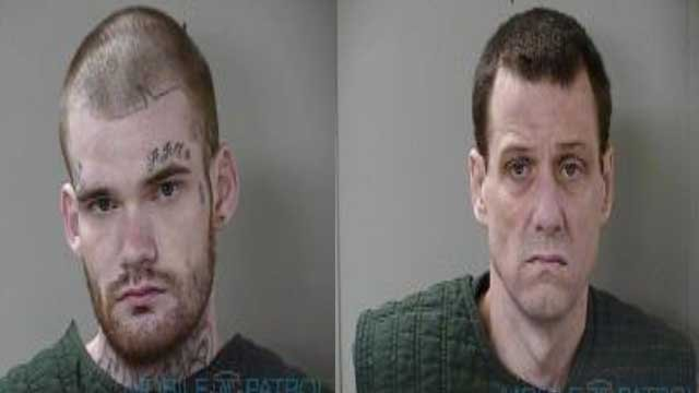 The inmates accused of killing two correctional officers were captured in Tennessee.