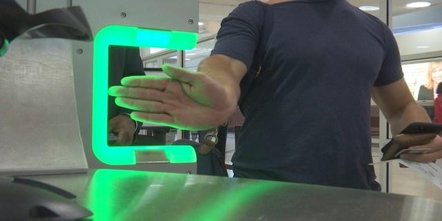 Airport fingerprint scanner (WGCL)