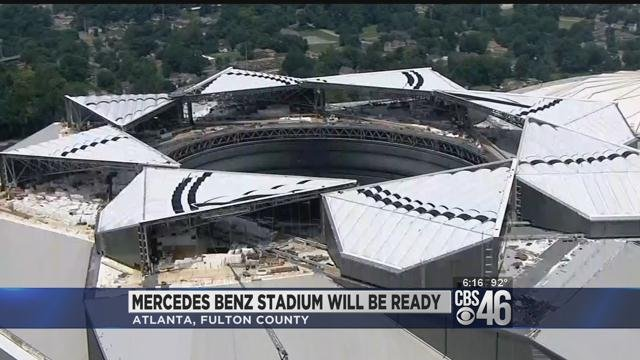 2 500 working around the clock on mercedes benz stadium for Will call mercedes benz stadium