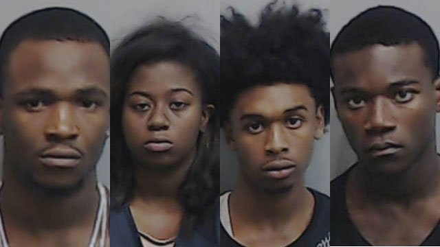 From left to right, Adams, Parker, Morgan and Crosby (Source: Atlanta Police Department)