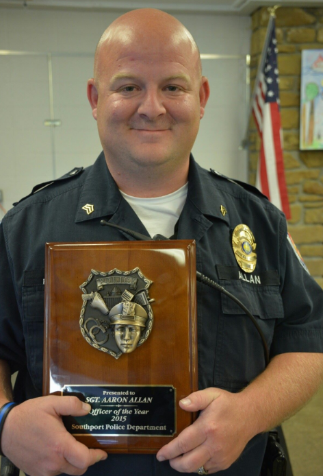 """Allan's department previously named him """"Officer of the Year"""" for saving two people in 2015. (He searched for hours in the rain to find a woman who'd overdosed on heroin and saved a man undergoing cardiac arrest when he was working part-time locally)"""