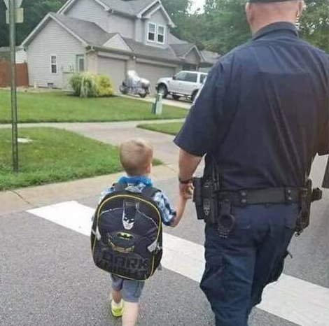 "Officer Aaron ""Teddy Bear"" Allan is survived by his wife and his elementary school son. (Courtesy: Facebook)"