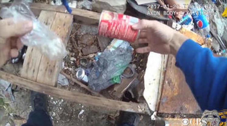 Second video emerges showing Baltimore Police officers 'planting drugs' during arrest
