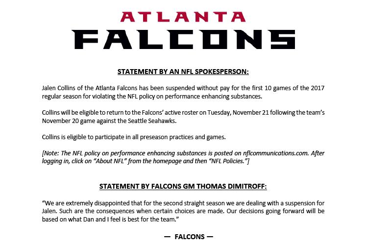 Source: Atlanta Falcons via Twitter