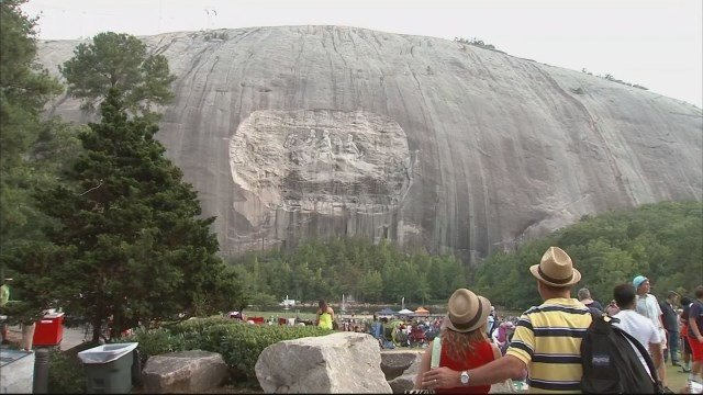 Governor candidate calls for removal of stone mountain