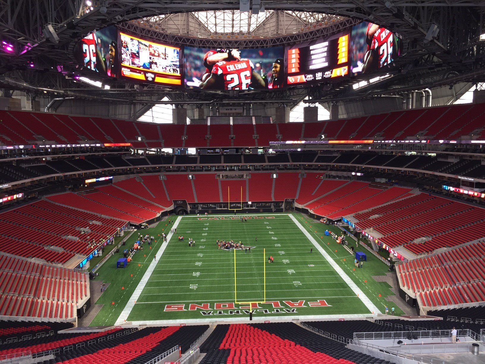 Mercedes benz stadium to open with certificate of for Mercedes benz stadium event schedule