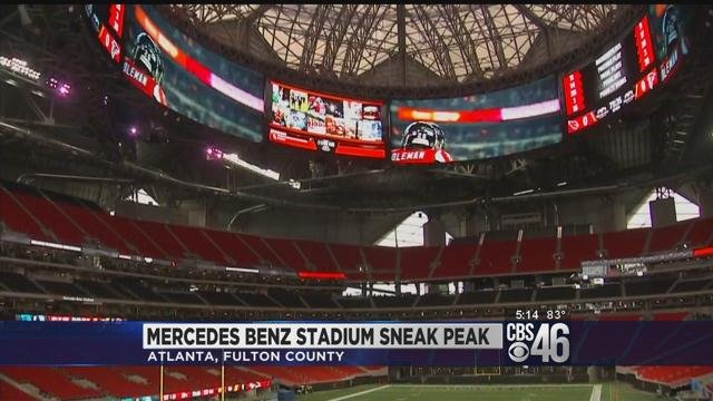 Mercedes benz stadium to open with certificate of for Will call mercedes benz stadium