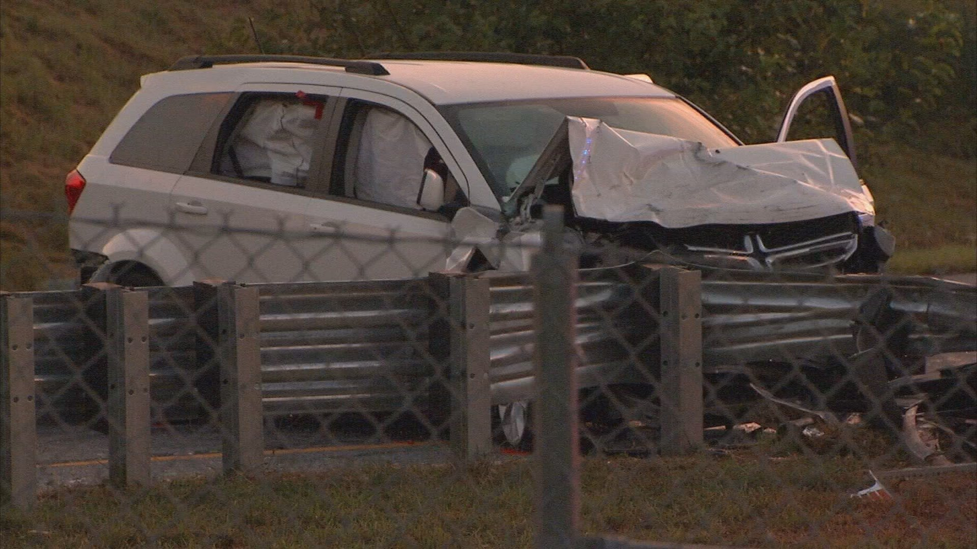 The man died in police custody after crashing this van (WGCL)
