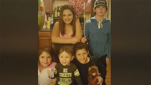 Five children, ages 2-14, lost their mother