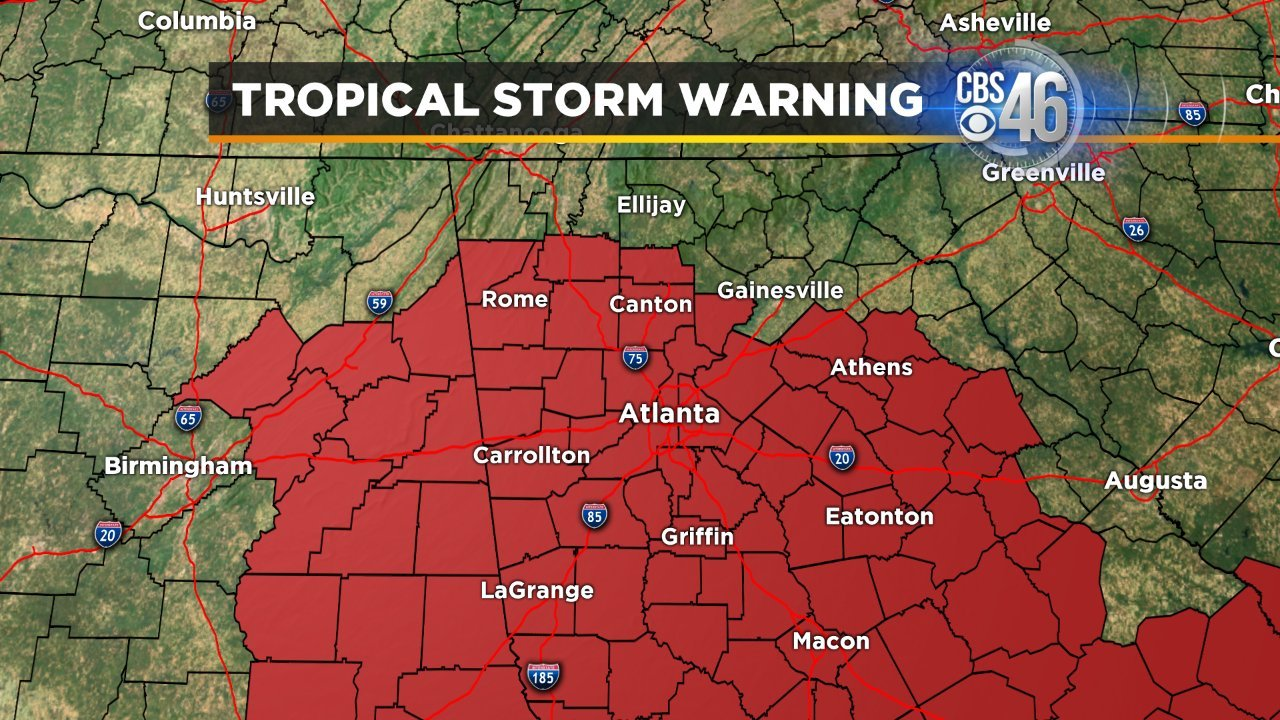 Click here for a map of the tropical storm warning